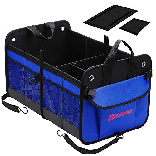 Autoark Multipurpose Car SUV Trunk Organizer,Durable Collapsible Adjustable Compartments Cargo Storage,AK-092