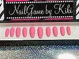 Matte Pastel Pink Full Coverage Hand Designed Nail Set