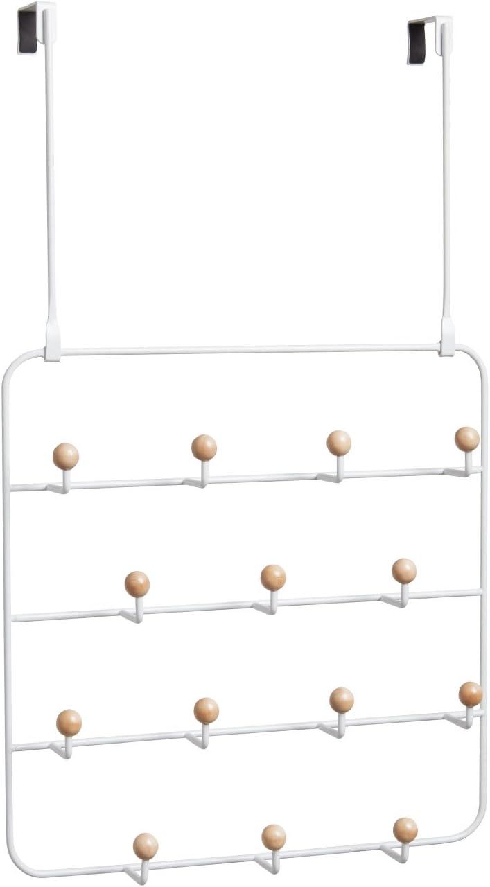 Umbra Organizador Estique armario puerta multifuncional de metal blanco (60.3 x 36.2 x 10.8 cm)