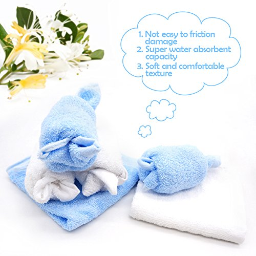 "Lifecolor Organic Bamboo Baby Washcloths Ultra Soft Absorbent Towels for Baby's Sensitive Skin,10""x10"" Baby Gift Set(6-pack)"