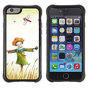 Pulsar Defender Series Tpu silicona Carcasa Funda Case para Apple iPhone 6(4.7 inches) , Design Happy Scarecrow