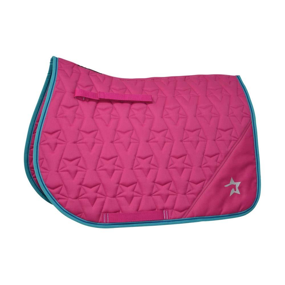 Flamingo Pink Turquoise Cobalt bluee UK Size  Small Pony Flamingo Pink Turquoise Cobalt bluee UK Size  Small Pony HySPEED Zeddy Saddle Pad