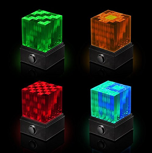 Super Nova LED Crystal Color Changing Cube with Integrated Stereo Bluetooth Speaker. 36 Different Light Show Modes. Amazing for Party. Great Gift. Mesmerizing Unique Wonderful Cube. Limited Edition