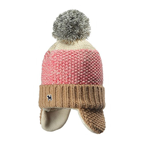 YJH Kids Cuff Knit Beanie Baby Toddler Children Warm Pom Winter Hat with Earflap Pink