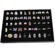 Beautiful Bead 100 Slots Grid Ring Earring Ear Pin Brooch Storage Display Box Tray Jewelry Organizer Holder Case