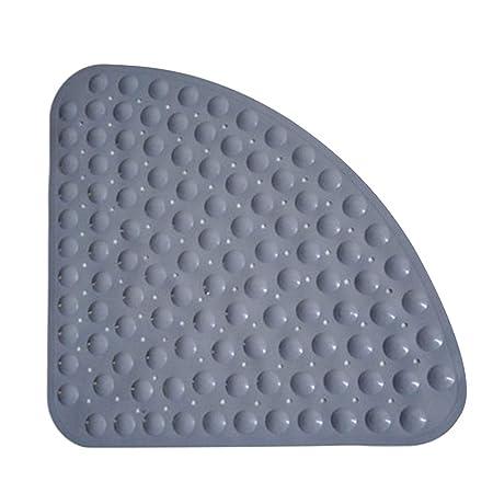 Bath Shower Mat Non Slip PVC Shower Mat Non-Slip Sector Rubber Corner Anti Mould Quadrant Bath Mat Quadrant Bath Shower 54x54CM/_blue