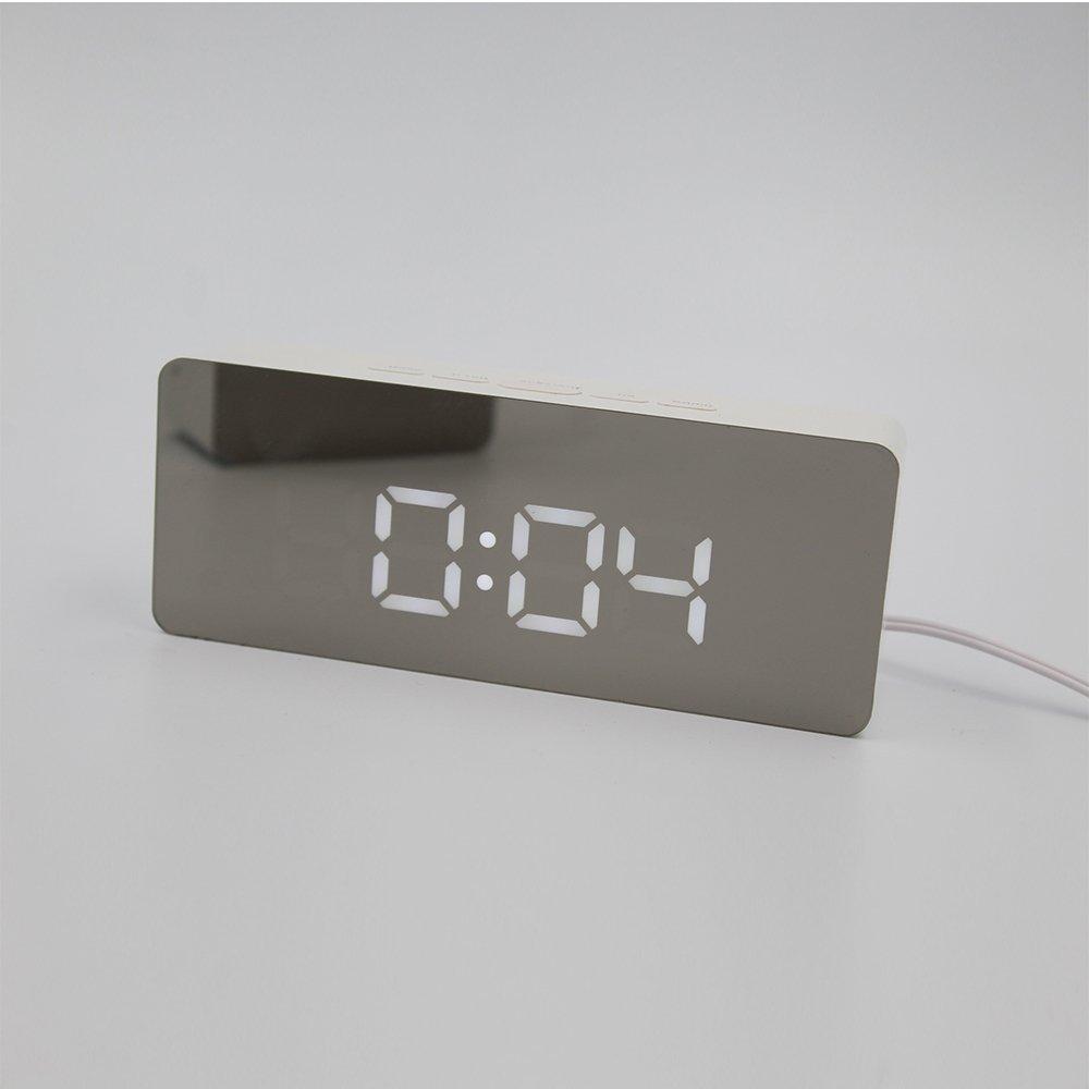 Shuangklei Réplica Reloj Despertador Con Led De Temperatura Digital De Sobremesa Multifunción Relojes De Mesa Para La Decoración Del Hogar Display Grande ...