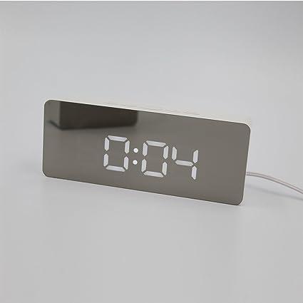 Shuangklei Réplica Reloj Despertador Con Led De Temperatura Digital De Sobremesa Multifunción Relojes De Mesa Para