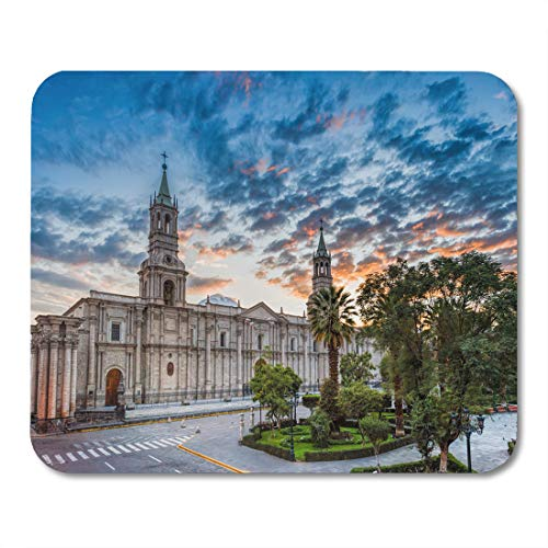 Semtomn Mouse Pad Morning Sunrising at Plaza De Armas and Cathedral à Mousepad 9.8