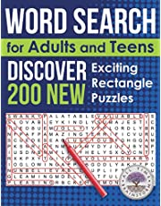 Word Search for Adults and Teens: Discover 200 NEW Exciting Rectangle Puzzles