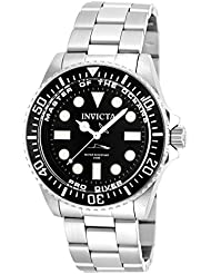 Invicta Mens 20119 Pro Diver Analog Display Swiss Quartz Silver Watch