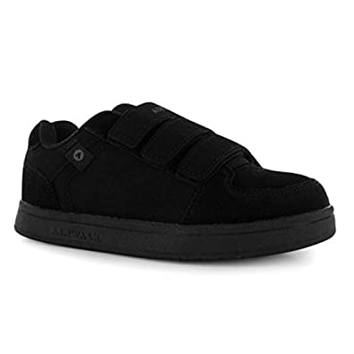 Amazon.com | Airwalk Kids Brock Childrens Skate Shoes Boys Casual Faux Suede Finish Trainers Charcoal UK 2 (34) | Skateboarding