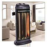 Alek...Shop 1200w Electric Quartz Space Heater Portable Infrared Tower Safety Tip-Over Shut Off Living Room
