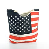 High Quality USA Flag Women Canvas Tote Bag Large, by Lynnwang Design