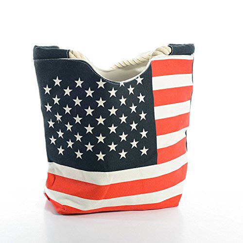 Price comparison product image High Quality USA Flag Women Canvas Tote Bag Large, by Lynnwang Design