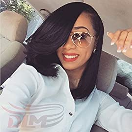 14″Bob Wigs Short Straight Wig Synthetic Heat Resistant Fiber Hair For Black Women By Jo Bryan