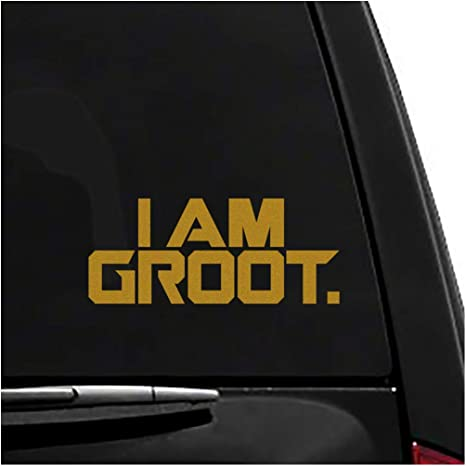 Groot Laptop Trackpad Decal Sticker Tablet Sticker Door Vinyl Car Bumper Decal
