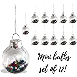 mini glass christmas ornaments set of 12 mini 1 inch balls filled with colorful