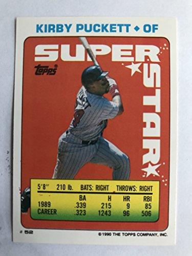 1990 Topps Sticker Backs #52 Kirby Puckett NM/M (Near Mint/Mint) ()
