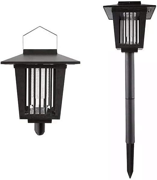 Lampara de mosquitosolar 3 LED Asesino eléctrico de Insectos, farola Exterior lámpara de jardín insertada luz púrpura luz Blanca Mosquito 2 en 1: Amazon.es: Hogar