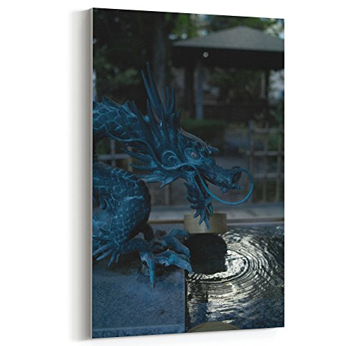Westlake Art Water Dragon - 12x18 Canvas Print Wall Art - Canvas Stretched Gallery Wrap Modern Picture Photography Artwork - Ready to Hang 12x18 Inch (DD9F-0615D) (Sunglasses Dragon Wrap Around)