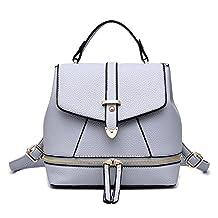 Hynbase Women's Summer Fashion Cute Korean Leather Schoolbag Backpack Shoulder Bag