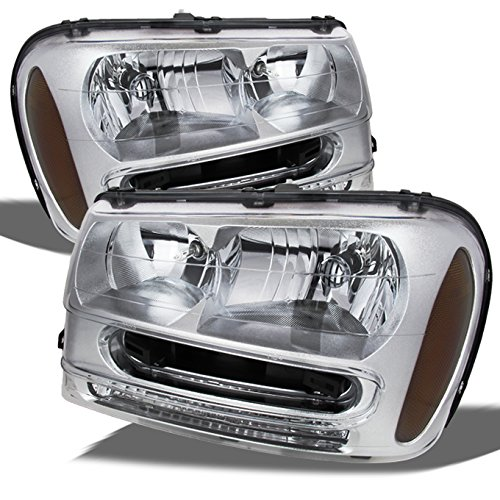 For Chevy Trailblazer Chrome OE Replacement Headlights Driver/Passenger Head Lamps ()