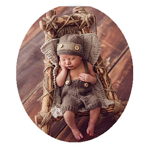 Vemonllas Fashion Newborn Boy Girl Baby Costume Outfits Photography Props Hat Pants