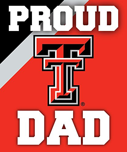 Texas Red Raiders Bumper Tech - TEXAS TECH RED RAIDERS DAD STICKER-PROUD TEXAS TECH DAD PEEL AND STICK DECAL