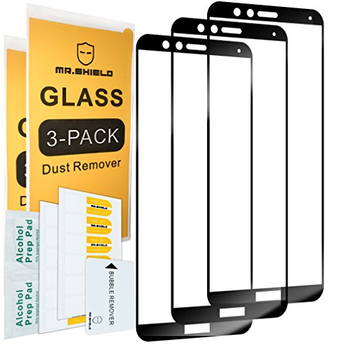 [3-PACK]-Mr Shield For Huawei Mate SE [Japan Tempered Glass] [9H Hardness] [Full Cover] Screen Protector with Lifetime Replacement Warranty