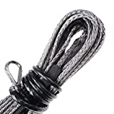 """50' x 1/4"""" Strong Durable Synthetic Fiber Winch Rope Line Cable 6400+ LBs Car SUV ATV UTV KFI"""