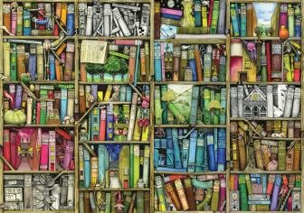 Bookshelf 500 Piece Wooden Jigsaw Puzzle