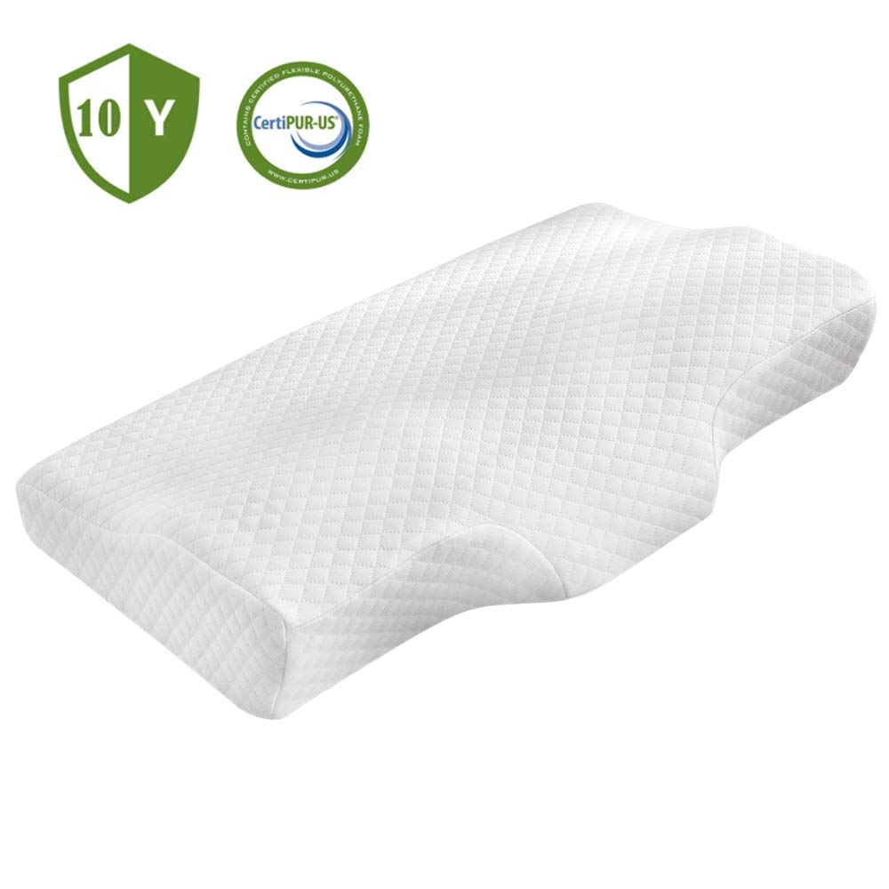 POLAR SLEEP Memory Foam Pillow for Sleeping, Cervical Pillow for Neck Pain, Bed Pillow, Side Sleepers Pillows, Orthopedic Contour Pillows with Washable Breathable Cover