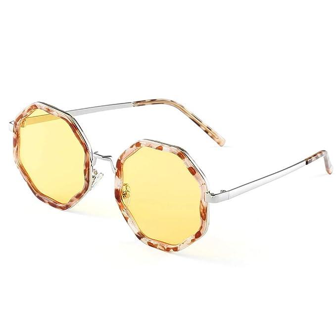 QingMu Gafas de sol 2019 Nuevas gafas de sol octogonales de ...