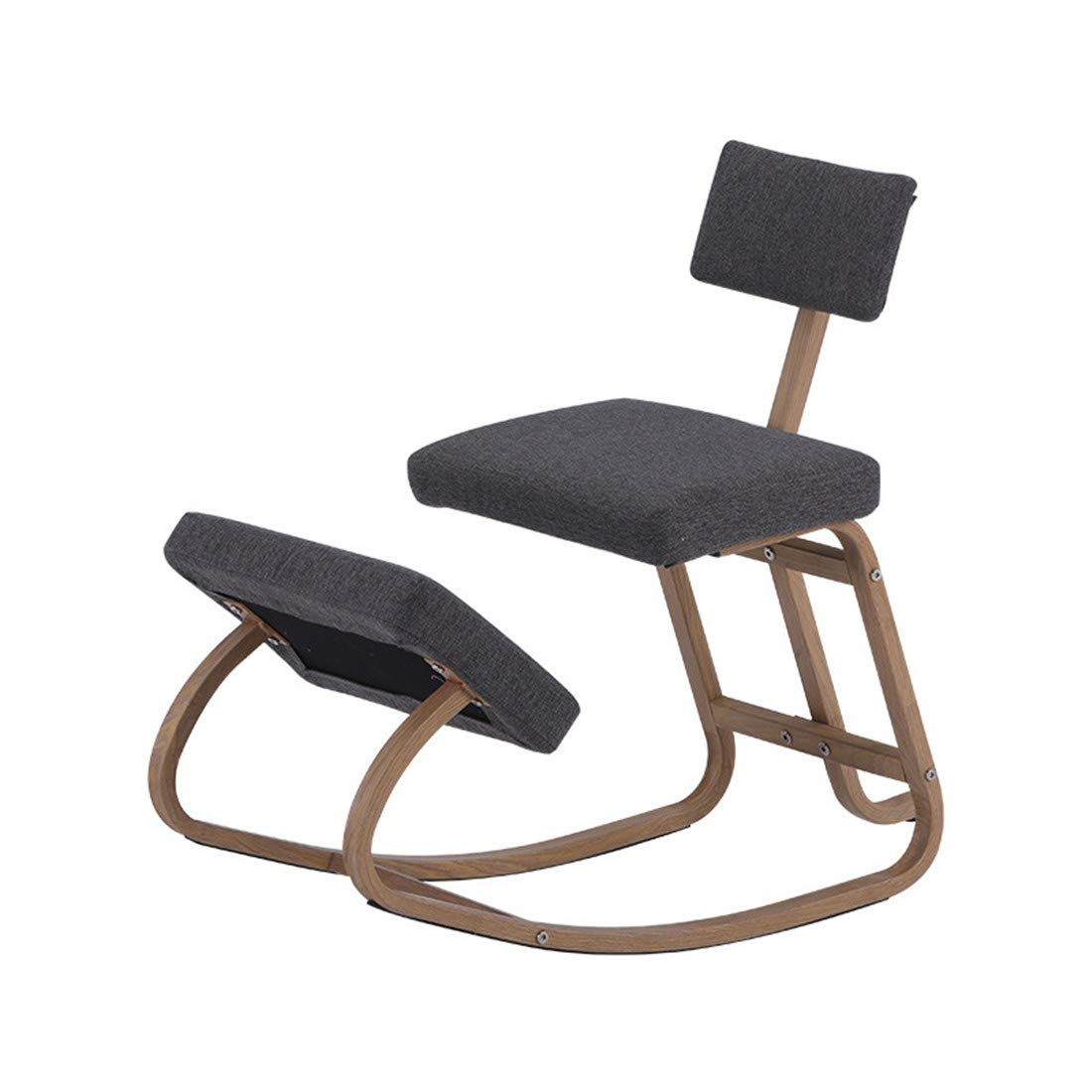 Kneeling Chairs Home Office Ergonomic Balance Kneel Stool Rocking with Back Support for Perfect Posture Kids Children with Backrest by AJ ZJ Kneeling Chairs