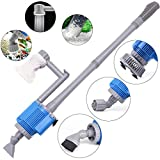 boxtech Aquarium Gravel Cleaner - Electric Automatic Vacuum Water Changer Flexible Fish Tank Sand Algae Cleaner Filter Change, Syphon Cleaning Fish Aquarium Siphon (Aquarium Gravel Cleaner)