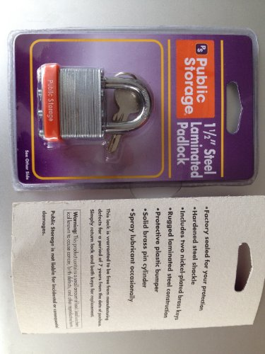 Public Storage 1 5 Inch Padlock Or Lock With Two Keys From Public Storage Auction