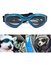 Enjoying Pet/Dog Puppy UV Goggles Sunglasses Waterproof Protection Sun Glasses For Dog - Blue