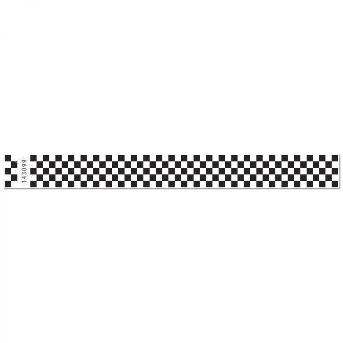 Checkerboard Tyvek Event Wristbands Paper-Like for Admission and Event Identification (Black)