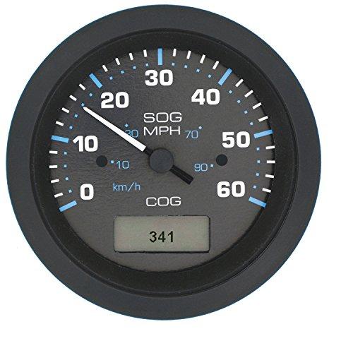Sierra International 781-684-060P Eclipse Gauge, 3 inch 60 MPH GPS Speedometer (Eclipse Gps Antenna)