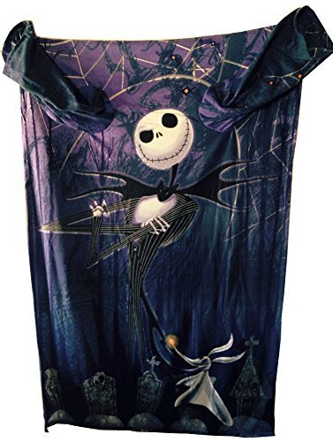 Disney The Nightmare Before Christmas Comfy Blanket with Sleeves ~ Jack Skellington & Zero ~ Unisex Adult Size