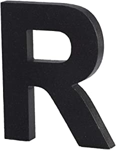 Black Decorative Wood Letters, Hanging Wall Letters Wooden Alphabet Wall Letter R for Home Bedroom Wedding Birthday Party Decor-Letters (R)