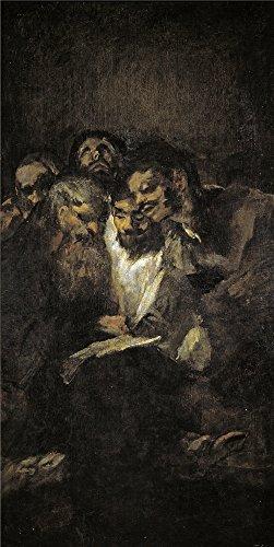 Oil Painting 'Goya Y Lucientes Francisco De La Lectura O Los Politicos 1820 23' 12 x 24 inch / 30 x 61 cm , on High Definition HD canvas prints, ()