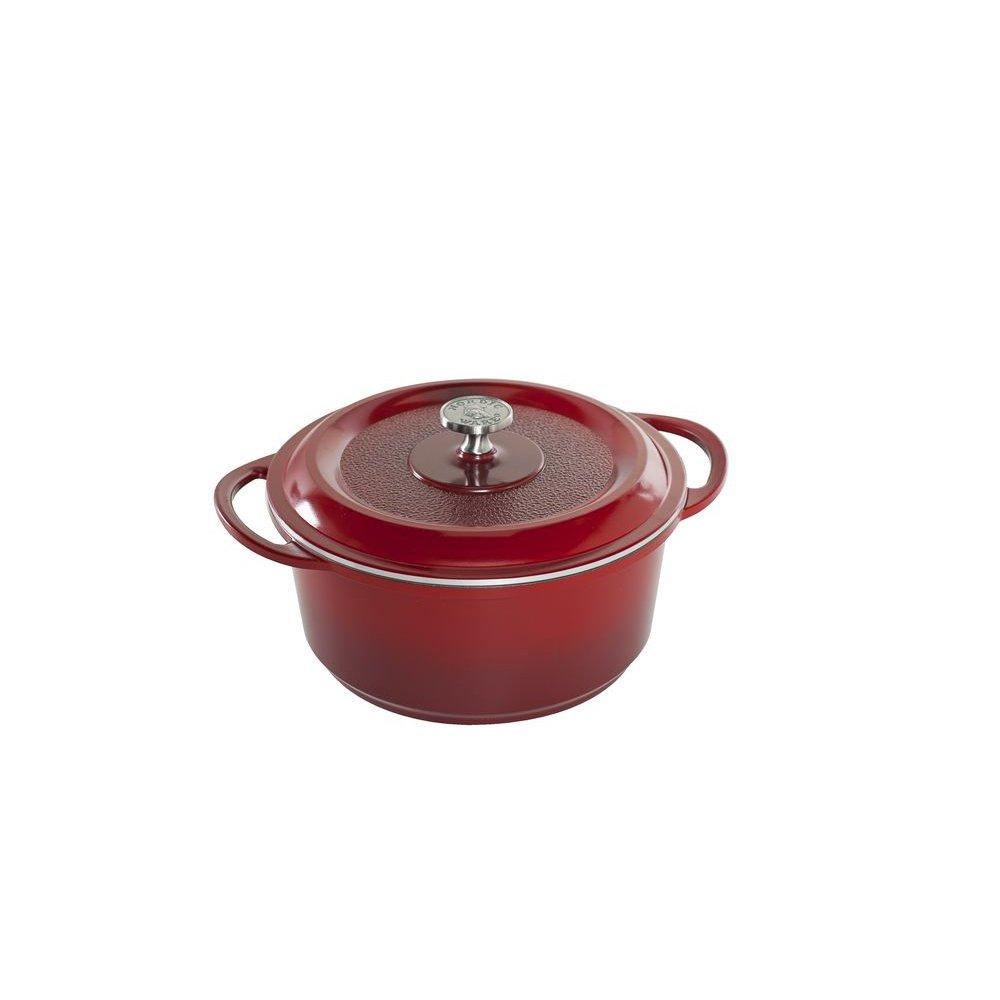 Nordic Ware Pro Cast Traditions Dutch Oven, 5-Quart, Cranberry