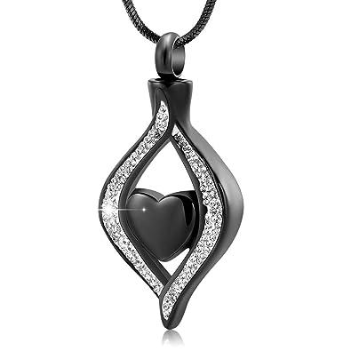 Amazon.com: Collar de urna con diseño de corazón de mi ojo y ...