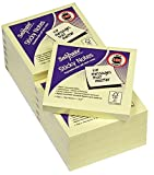 Snopake 76x76mm Sticky Notes - Yellow (Pack of 12 , 100 Sheets per Pad)