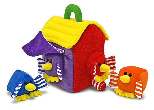 Bird House Shape Sorter (Melissa & Doug Bird House Shape Sorter Soft Baby and Toddler Toy With Handle)