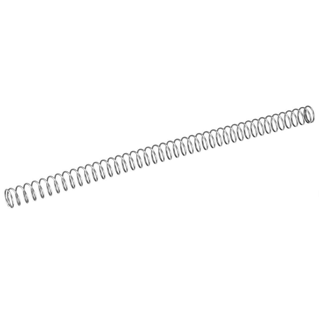 Free Length 0.39 Stainless Steel Coil Extended Compressed Spring 10pcs sourcing map Wire Diameter 0.03 OD 0.2