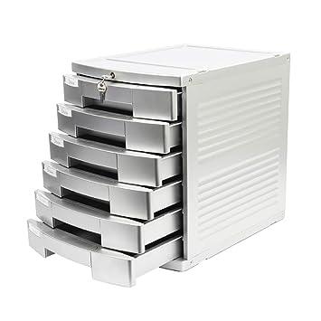 FPigSHS Archivadores de fichas Archivador de Escritorio Archivador de Oficina Archivador Armario Caja de almacenaje Tipo de Cajon con Cerradura Nivel 6 ...