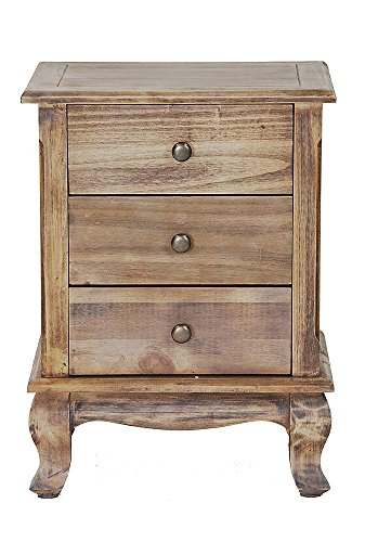 Heather Ann Creations W22352-FH 23.6 Inch Pine Crest Collection 3 Drawer Handmade Storage Accent Cabinet, Farmhouse Rustic ()